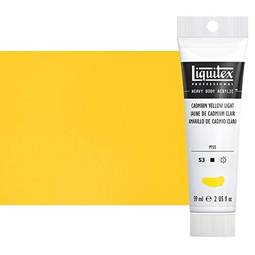 Liquitex Professional Heavy Body Acrylic Paint, 2-oz Tube, Cadmium Yellow - Yellow Light Cadmium Colors