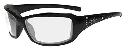 Harley-Davidson Women's Tori Gasket Sunglasses, Black/Green Stones Frame HATOR03 (Davidson Harley Glasses)