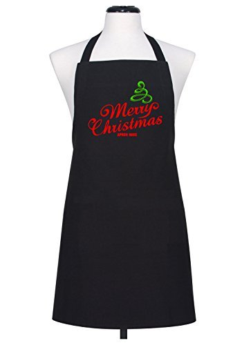 Merry Christmas Apron Funny Novelty Cotton Kitchen Chef's Apron Gifts for Dad,For Mom,Housewarming Giftsd,For Mom,Housewarming Gifts (Mothers Day Giftsd)