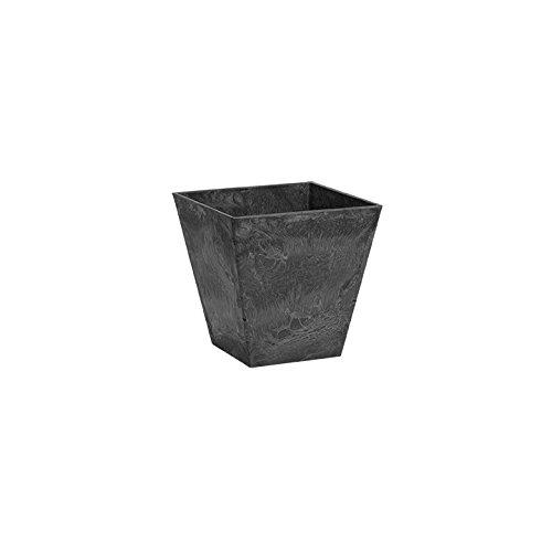 ArtStone 35068 Ella Square Planter, Black, 6-Inch