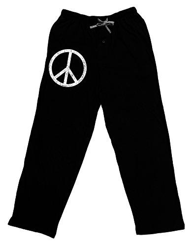 TOOLOUD Peace Sign Symbol - Distressed Adult Lounge Pants - Black- Large