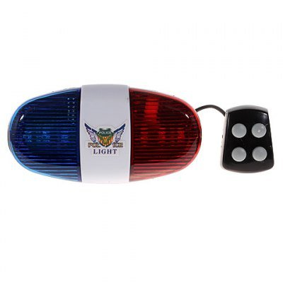 (Durable Plastic 4-Tone Whistle Red and Blue Police Light Lamp Electric Horn for)