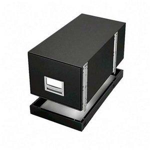 Bankers Box-Metallfuß, Buchstabe f/00511 13-7/20.32 cm x 25-3 Widerstandsmessgerät/20.32 cm x 5,7 cm (2-1/5.08 cm, Schwarz, 1 Stück, FEL 12602