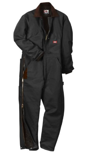 Dickies Men's Insulated Coverall, Black, Extra Large-Regular -