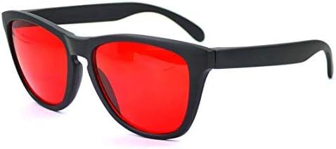 Zryh カラーブラインドメガネレッドグリーンカラー失明黒スポーツスタイルメガネ