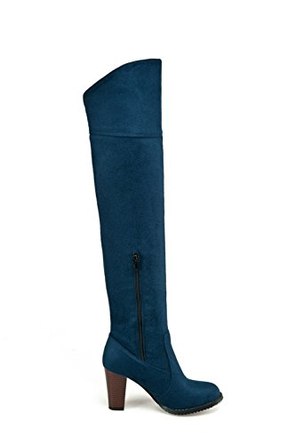 Frosted Girls BalaMasa Thigh Heels Blue Flexible Foldable Chunky Highs Boots Rg0Oqxgp
