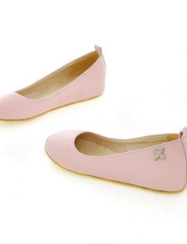 beige Zapatos Talón azul Negro Black us6 de 7 Pdx De Eu37 rosa Sintética Casual Mujer Punta Plano 5 5 Uk4 Flats Cn37 blanco 5 Piel Redonda FaCAxwq