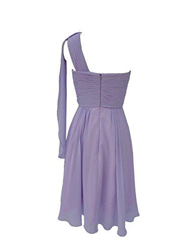 yiyadawn corti della damigella d' onore abito monospalla Vestito per donna Marineblau 44