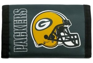 Rico Industries NFL Green Bay Packers Trifold Wallet Nylon