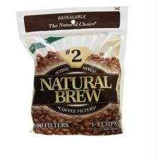 Natural Brew B62103 Natural Brew Cone Coffee Filters, #2 -12x40cnt
