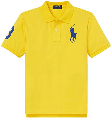(Polo Ralph Lauren Boys Big Pony Mesh Polo Shirt (L (14-16), LemonRind))