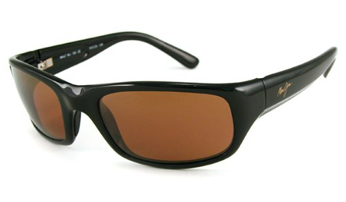 Maui Jim Stingray Sunglasses,Gloss Black Frame/HCL Bronze Lens,one size by Maui Jim