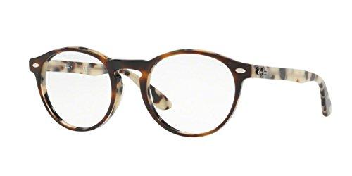 Ray-Ban Men's RX5283 Eyeglasses Top Havana Brown Beige 49mm (Havana Top)