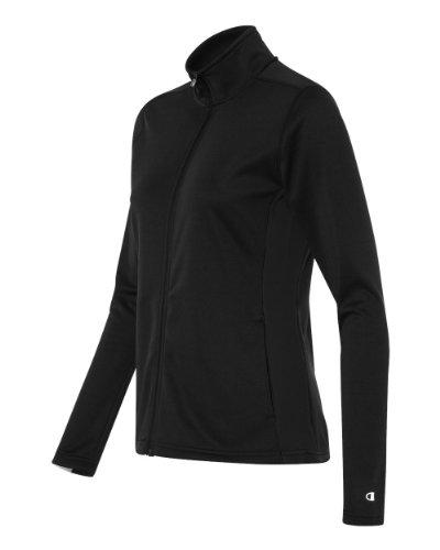 Block Track Jacket (Champion S260 Womens Performance Color-block Full Zip Jacket - Black, Medium)