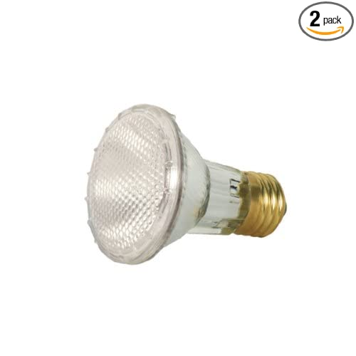 Satco S2267 39 Watt (50 Watt) 530 Lumens PAR20 Halogen Narrow Flood 34 Degrees Clear Light Bulb, 2-Pack - Par Lamps - Amazon.com
