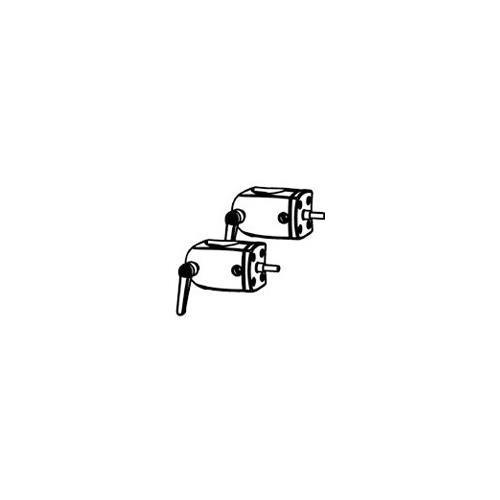 - ERGOTRON accessories ds100 pole clamp mounting component 2-pk (black) 60-443-200