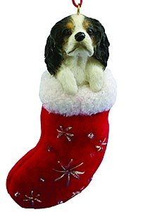King Charles Spaniel Christmas Stocking Ornament with