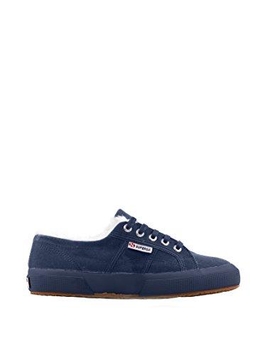 Donna Unisex Con Autunno Superga Blu cobu Scuro Sneaker Scarpa Inverno Pelo 2750 Uomo aYYTZq