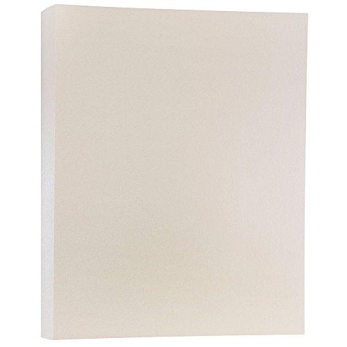 JAM PAPER Metallic 110lb Cardstock - 8.5 x 11 Coverstock - Opal Ivory Stardream Metallic - 50 Sheets/Pack ()