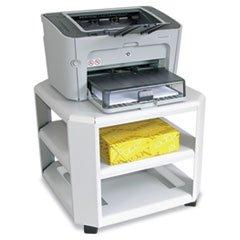 ** Mobile Printer Stand, 3-Shelf, 17-4/5w x 17-4/5d x 14-3/4h, Platinum **