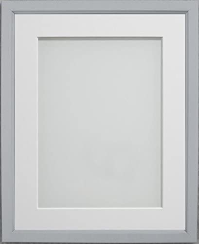 Amazon Com Frame Company Drayton Range 10x8 Inch Grey Picture Photo Frame With White Mount For Image Size 7x5 Inch
