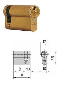 Medio cilindro para puertas y cerraduras de ponerse 35 – 10 Art. Viro 975.2