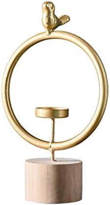 QIQIDEDIAN ローソク足装飾デコレーションホームレストランキャンドルライトディナー小道具幾何学モデリング鉄鳥 (Size : L)