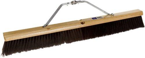 Magnolia Brush 2030 LH Line Floor Brush, Plastic Bristles, 3'' Trim, 30'' Length, Black (Case of 6) by Magnolia Brush