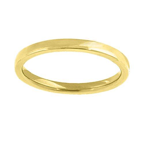 14kt Gold Unisex Dome Polished Comfort-fit 2mm-SZ11 Wedding Engagement Band Ring 14kt Gold Comfort Fit Band