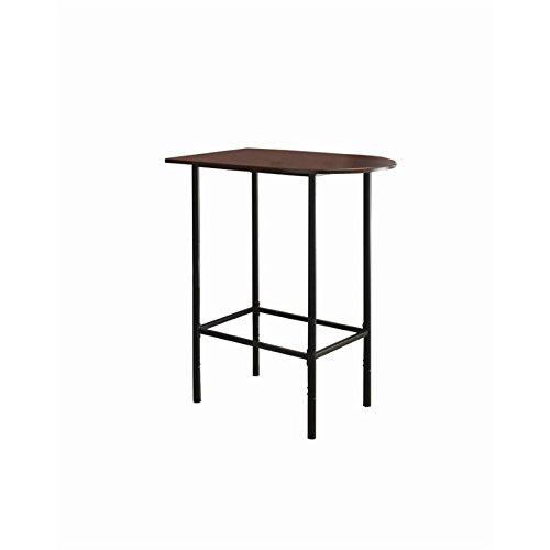 Monarch Specialties Metal Space Saver Bar Table, 24 by 36-Inch, Cappuccino/Black by Monarch Specialties (Image #4)