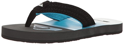 Quiksilver Baby Boy's Basis Flip Flop, Black/Blue/White, 10 M US Toddler