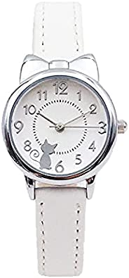 Ladies Watches, Children Watches, Cat Multi-Color Quartz Watches, Girls Clocks, Rosette Watches, Colorful