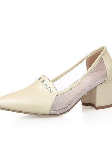 GGX/ Damen-High Heels-Lässig-Kunststoff-Blockabsatz-Absätze / Stile / Spitzschuh / Geschlossene Zehe-Blau / Rosa / Beige pink-us7.5 / eu38 / uk5.5 / cn38