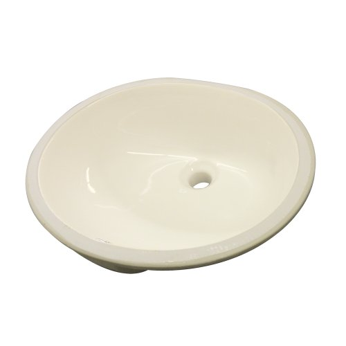 Lavatory Undermount Biscuit - Transolid TL-1530-08 Madison Grande Oval Undermount Vitreous China Lavatory, Biscuit
