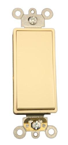 Leviton 5691-2I 15 Amp, 120/277 Volt, Decora Plus Rocker Single-Pole AC Quiet Switch, Commercial Grade, Ivory