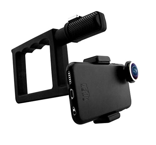 Death Lens Grip 2.0 VX Handle - Counter Balance - Stabilize footage, Go Pro Mount, Rubber Coated Grip, iPhone, Samsung Galaxy and Other ()