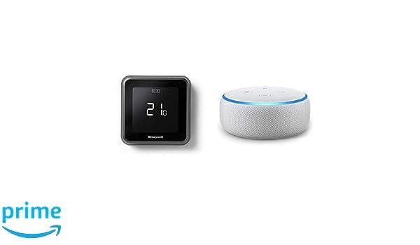 Echo Dot gris claro + Honeywell T6 - Termostato programable inteligente Wifi cableado: Amazon.es: Bricolaje y herramientas