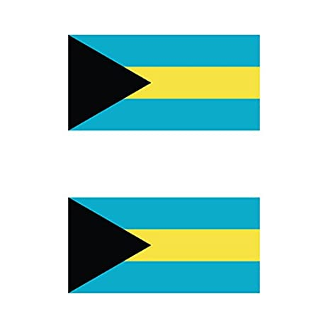 Two pack bahamian flag sticker fa graphix decal self adhesive vinyl bahamas bhs bs