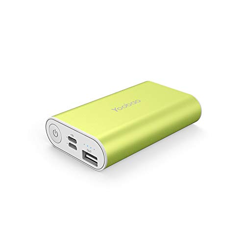 Yoobao Small Portable Charger 6000mAh Power Bank Battery Backup Phone Charger External Battery Pack Cellphone Powerbank Dual Input Compatible iPhone X 8 7 Plus Android Samsung Galaxy Smartphone-Green