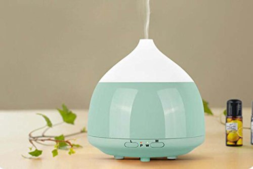 WYAN@ Essential Oil Diffuser Ultrasonic Wood Grain Aromatherapy Machine (Color : Emerald green)
