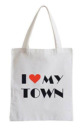 Amo la mia città divertente sacchetto di iuta
