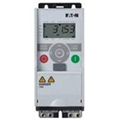 Eaton MMX34AA2D4F0-0 Adjustable Frequency AC Drives, 480VAC Supply Voltage, 1HP Power Rating, 2.4A Input Current
