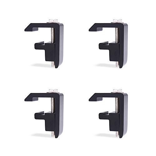 AA-Racks P-AC-04N Utility Track System Mounting Clamp for Toyota Tacoma/Tundra Truck Cap/Camper Shell, Set of 4 - Black ()