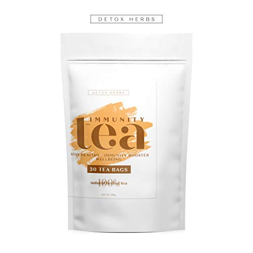 IMMUNITY TEA - Rich Source of Vit C, Stay Healthy, Immunity Booster, Wellbeing, 100% Natural Tea for Adults and Kids, Immune System Support, Feel Better, Relieves Cold Flu Symptom, 30 TEA BAGS