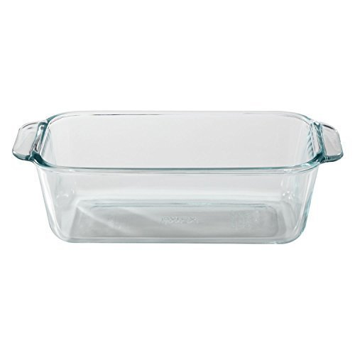 Pyrex 1.5-Quart Clear Basics Glass Loaf Pan (Set of 2) ()