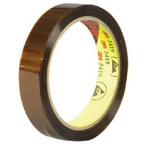 3M 5419 Low Static Polyimide Film Electrical Tape, -100 to 500 Degree F, 36 yds Length x 3/4'' Width, Gold