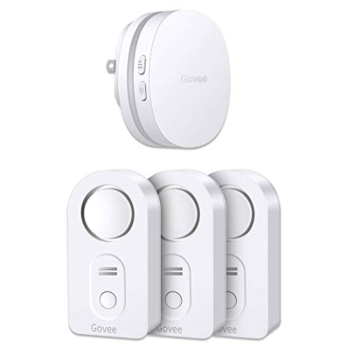 Govee Water Leak Detector, WiFi Leak Alert Wireless Water Sensor Remote Monitor Leak for Home Security Basement and Alarm with Email, App Alerts(Not Support 5G WiFi)