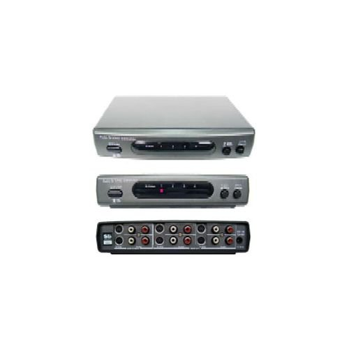 4x2 (4:2) S-Video S-VHS + R/L Audio Automatic Auto Video Routing Switch Switcher - S-video Shinybow