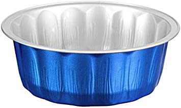 KEISEN 4 2 5 Disposable Aluminum Foil Cups 235ml 8oz 100 PK for Muffin Cupcake Baking Bake Utility Ramekin Cup blue