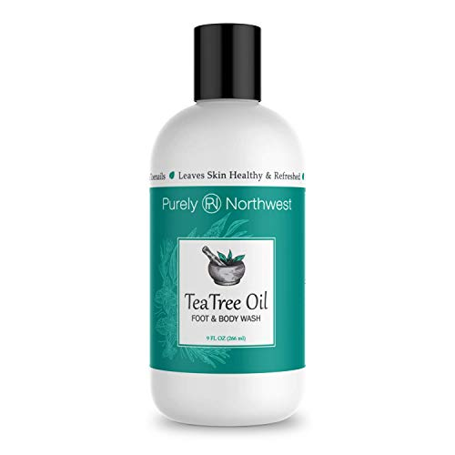 Antifungal Tea Tree Oil Body Wash, Helps Athletes Foot, Ringworm, Toenail Fungus, Jock Itch, Acne, Eczema & Body Odor- Soothes Itching & Promotes Healthy Feet, Skin and Nails 9oz (Best Way To Cure Dandruff)